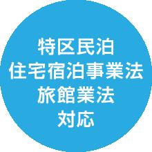 特区民泊住宅宿泊事業法旅館業法対応